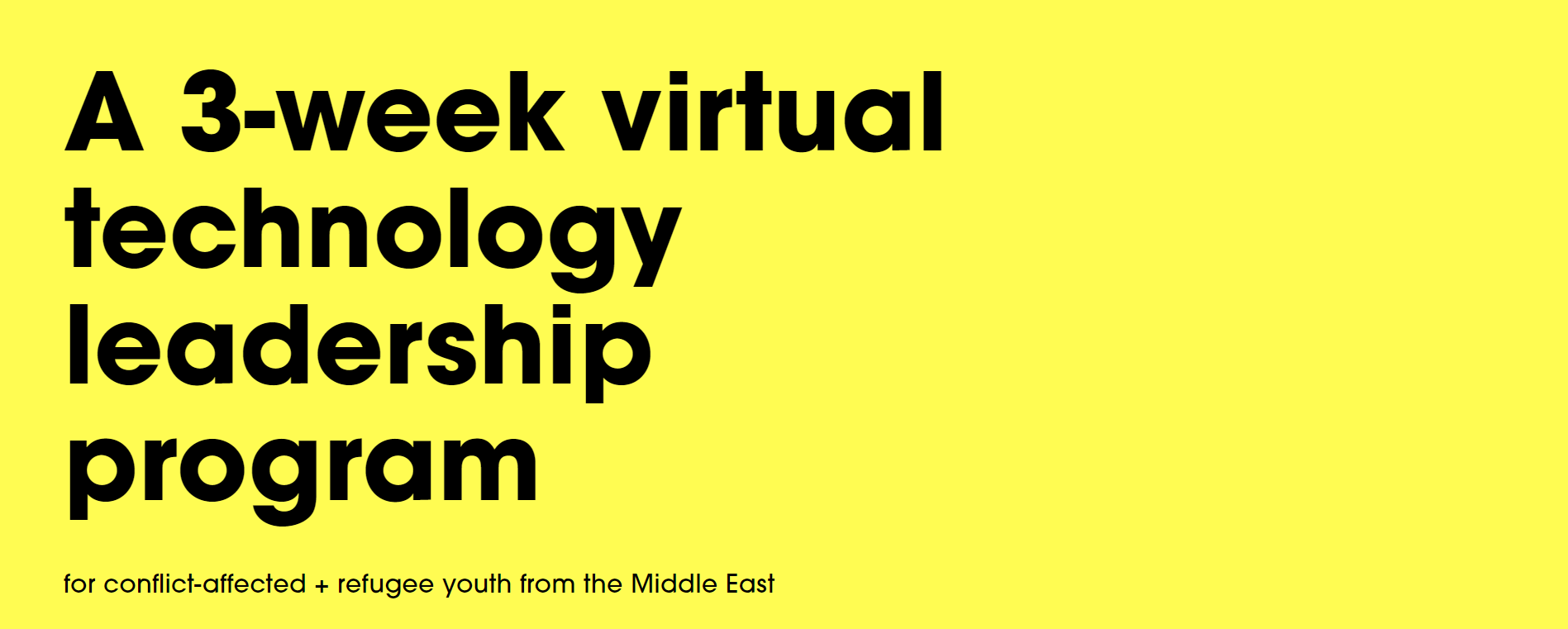 Young Tech Leaders of the Middle East: Virtual Tech Leadership Program Launches with 24 Youth
